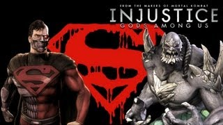 Injustice Gods Among Us - Cyborg Superman Vs Doomsday with Lore & Skins