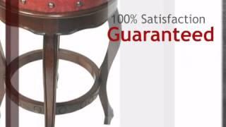 Spanish Heritage Red Round Barstool - Set Of 2 - Lonestarwesterndecor.com