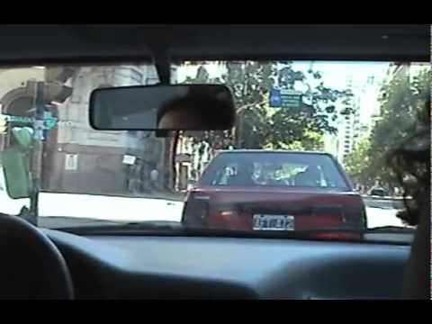 Driving through Buenos Aires, Argentina - 17 April 2004