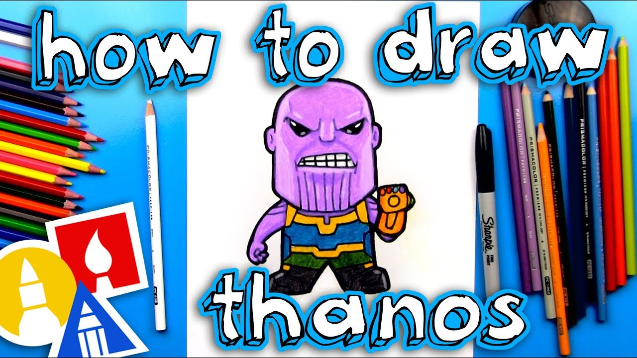 How To Draw Thanos From Infinity War - Art For Kids Hub -