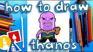 Sonsuz Savaş Thanos Karikatür Çizmek İçin Nasıl