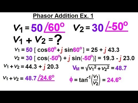 Electrical Engineering: Ch 10 Alternating Voltages & Phasors (16 of 82)  Phasor Addition: Ex  1