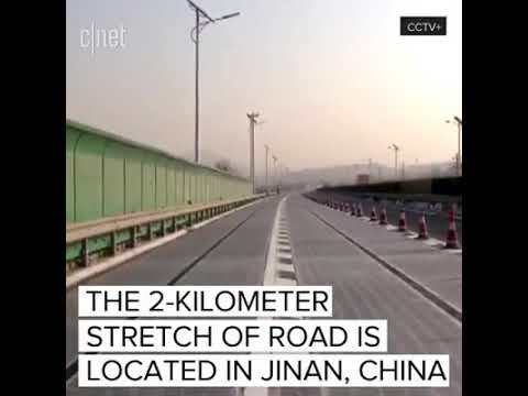 Amazing ! World's First SOLAR Road- Freeway opened at Jinan, China