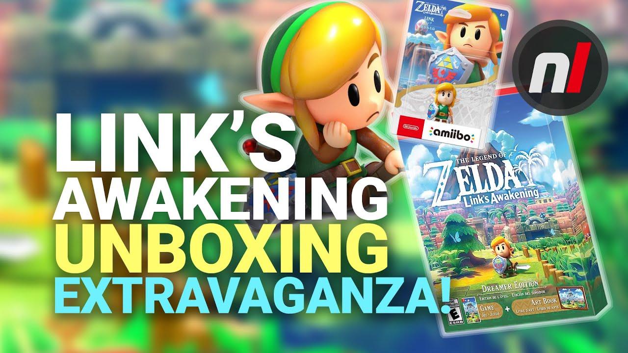Zelda Link S Awakening Unboxing Amiibo Dreamer Edition More