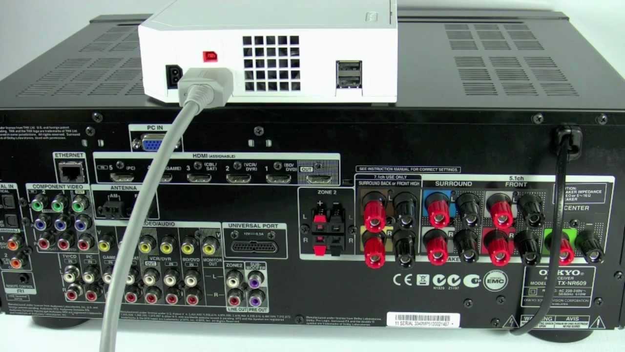 ONKYO Heimkinoreceiver - Anschluss einer Wii Spielekonsole (Gaming ...