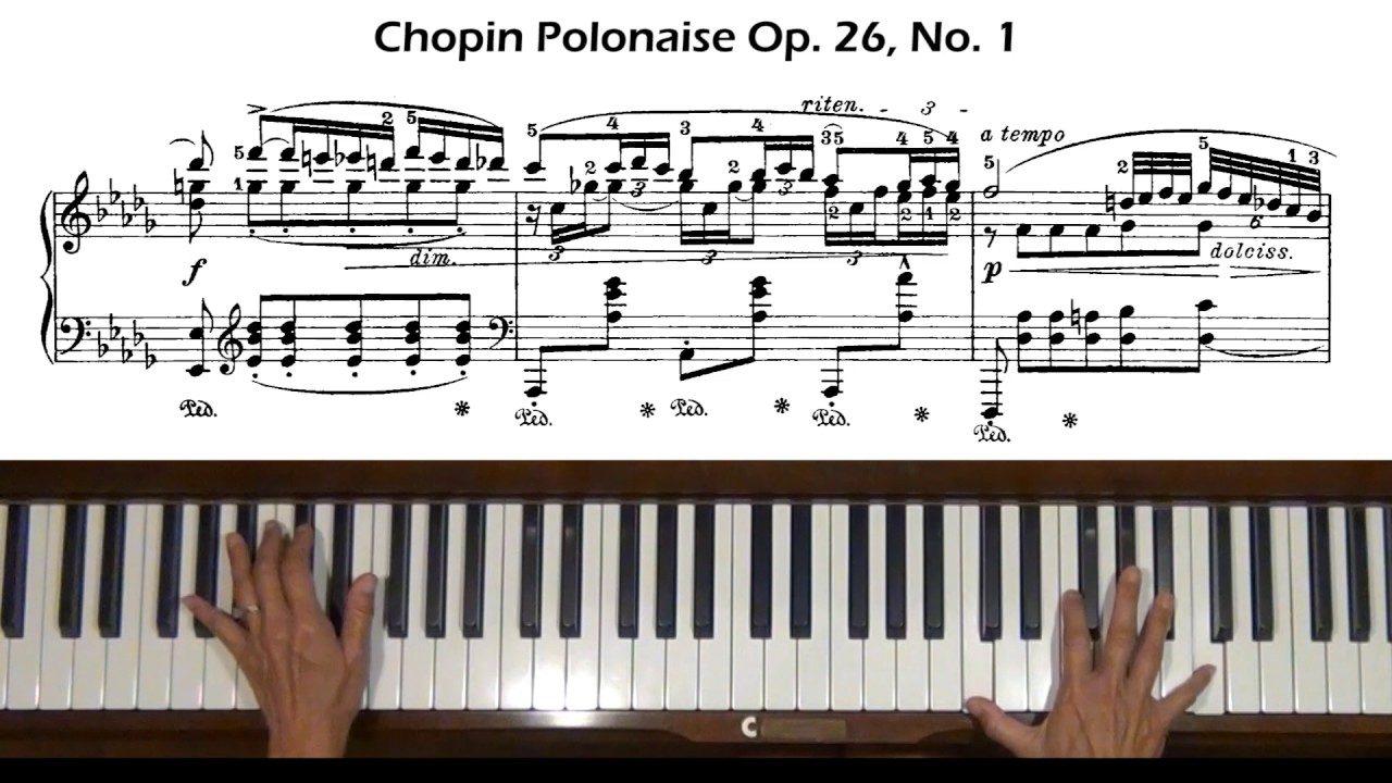 Chopin polonaise in b flat major op. Posth (1817) piano tutorial.