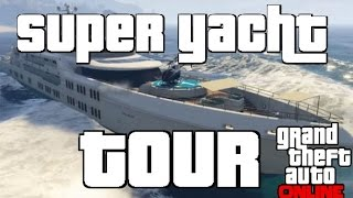 GTA V Online - A Tour Of The New Super Yacht (Interior, Hot Tubs, Customizable Options)