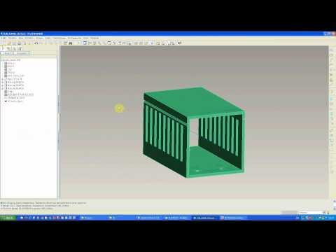 Pro/Engineer WF3: Cabling: подготовка компонента: создание линии следования в канале