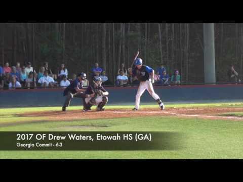 2017 OF Drew Waters, Etowah HS GA, Georgia Commit