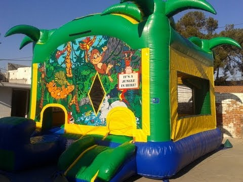 5 In 1 Jungle Combo Slide Inflatable ** Joshua Jumpers.com **