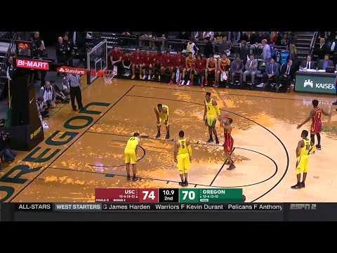 Men's Basketball: USC 75, Oregon 70 - Highlights 1/18/18