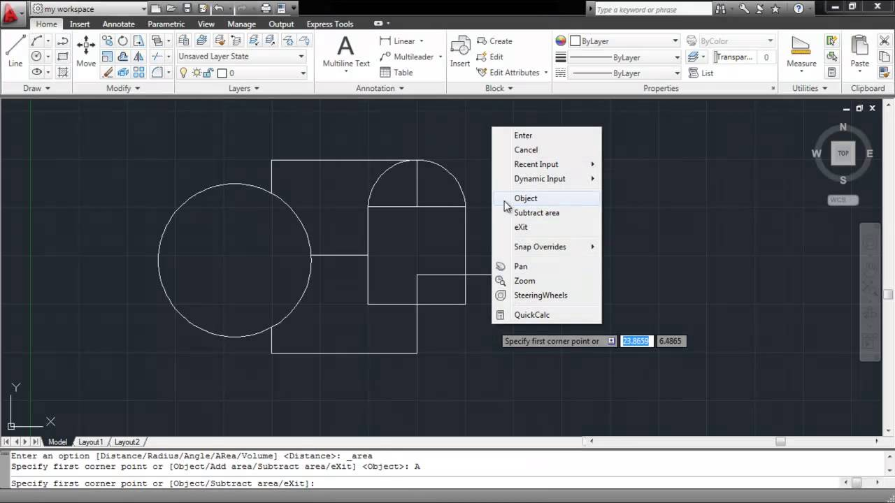 Como Calcular El Area En Autocad Youtube