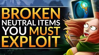 The MOST BROKEN Neutral Items that INSTANTLY Win Games: 7.23f Tier List Tips   Dota 2 Pro Guide