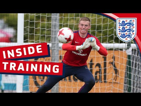 Euro U21 training session with England's Goalkeepers | Inside Training