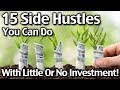 15 Side Hustles You Can Do With Little Or No Investment!
