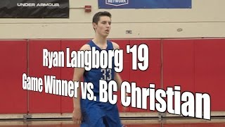 Ryan Langborg '19 Game Winner vs. Christian Finish, UA Holiday Classic Consolation, 12/28/16