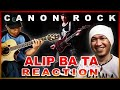 ALIP BA TA - CANON ROCK - fingerstyle guitar cover | Reaction