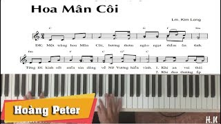 Hướng dẫn đệm Piano: Hoa Mân Côi - Hoàng Peter