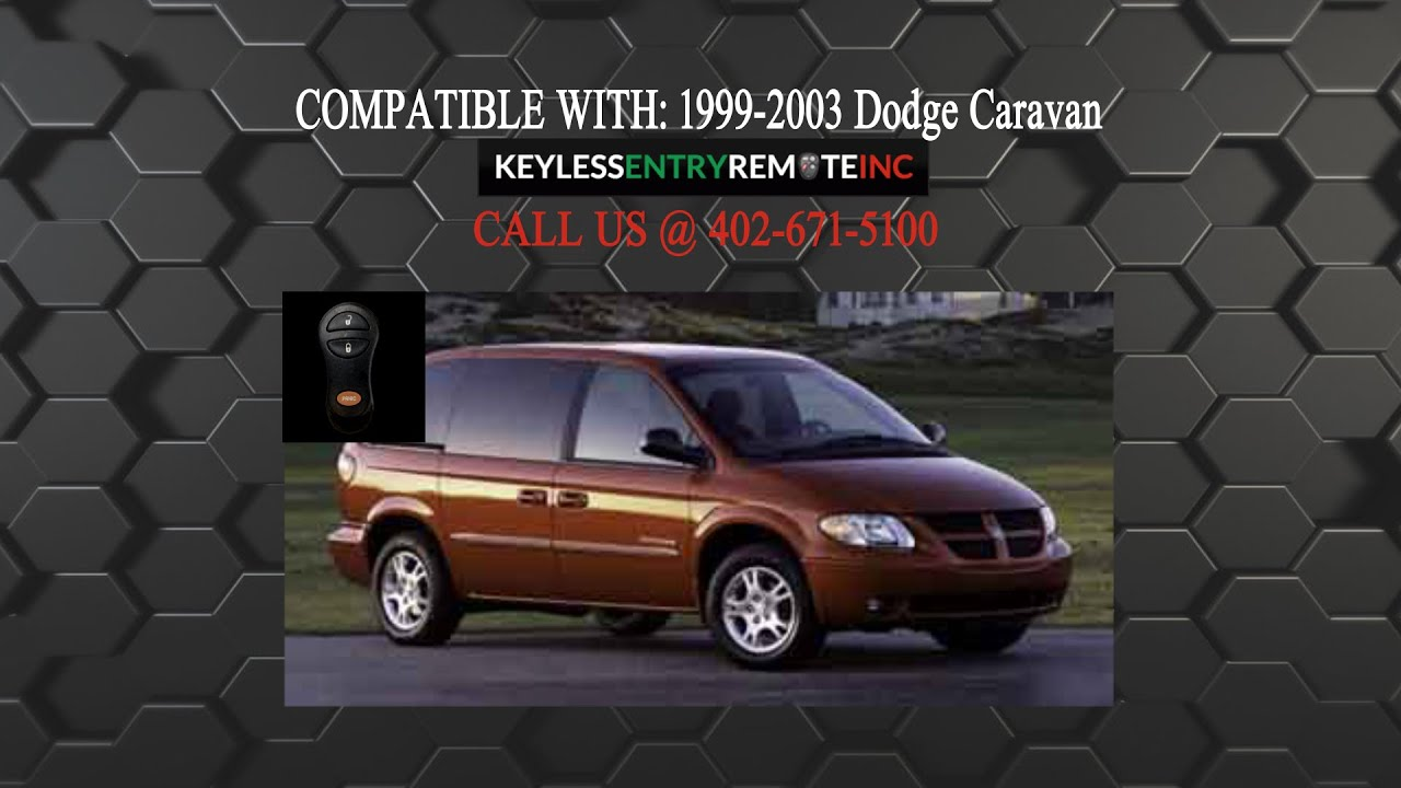 2 Car Transponder Ignition Chip Key For 2001 2002 2003 Chrylser Town and Country