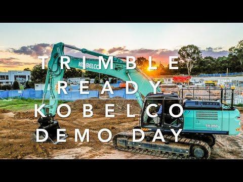 Trimble Ready Kobelco Excavators Demo Day 2019