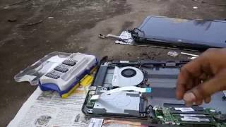 Laptop Overheating Repair-Applying Thermal cooling Paste To Laptop-cleaning- Hard Drive replacement