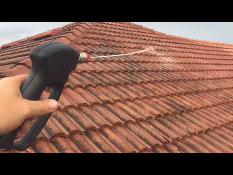 Tile roof soft wash cleaning - roof cleaning service