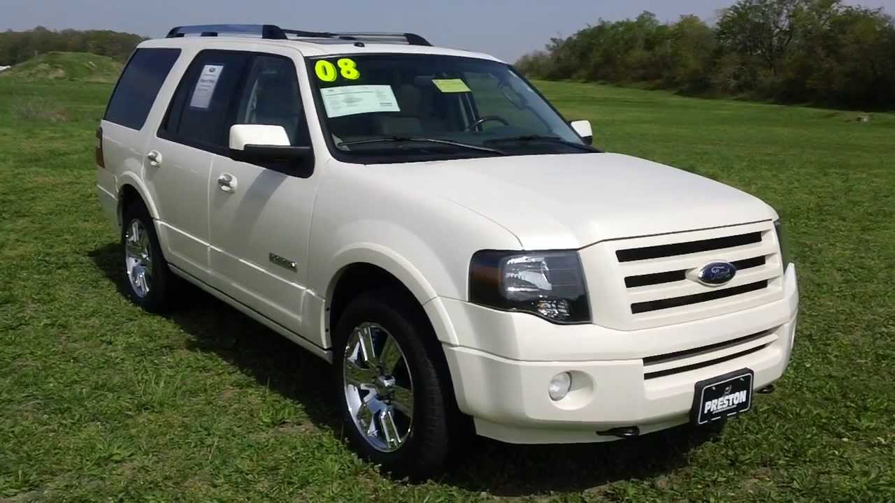 Used car for sale maryland 2008 ford expedition limited 4wd v8 dvd certified ford
