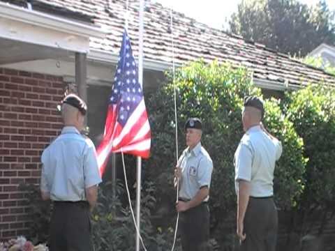 Carl Boese Flag Ceremony