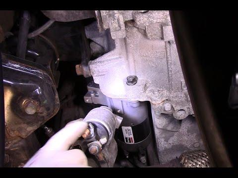 replace the starter on a 2007 Hyundai Santa Fe - YouTube