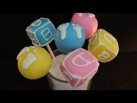 Baby Shower Gender Reveal Cake Pops- With Emmymadeinjapan!
