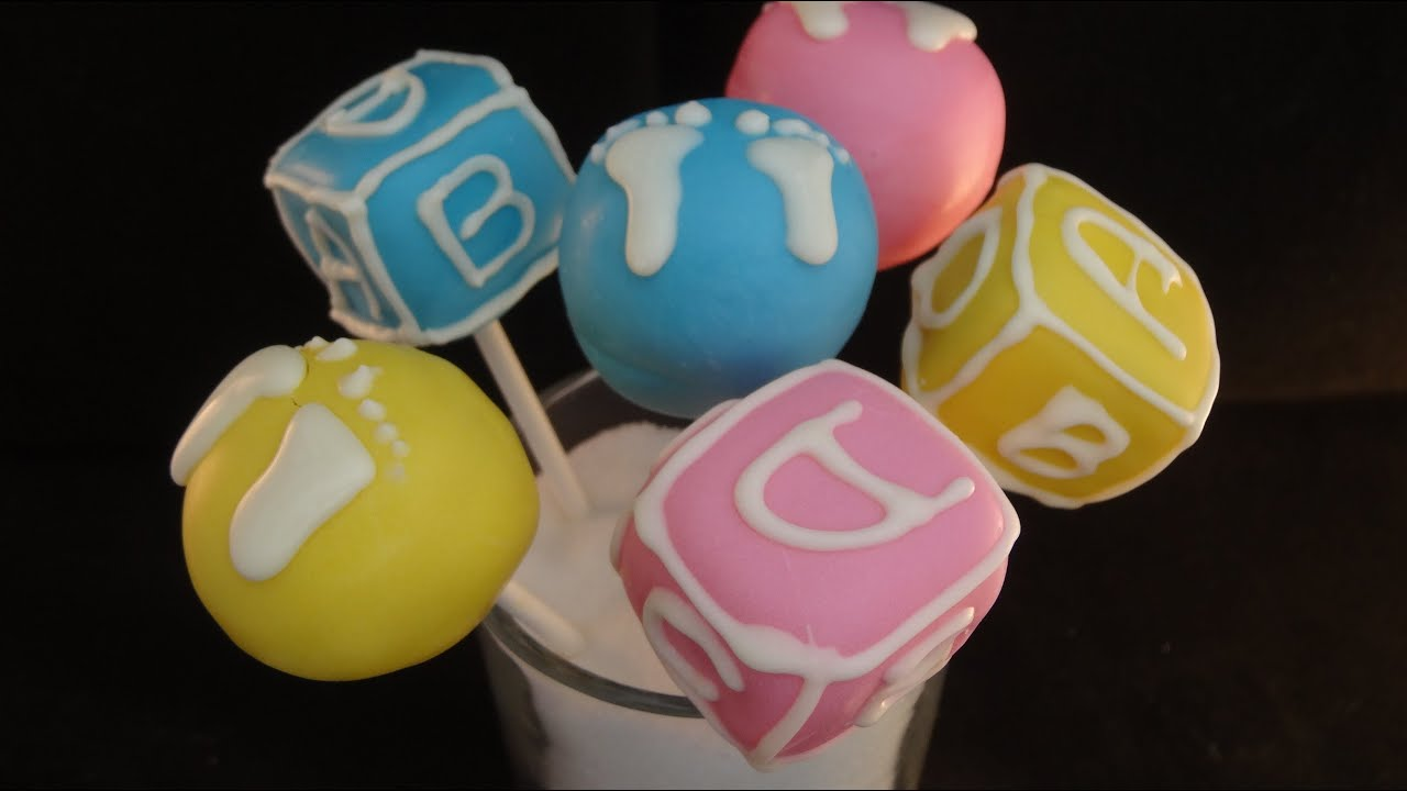 Baby Shower Gender Reveal Cake Pops with emmymadeinjapan