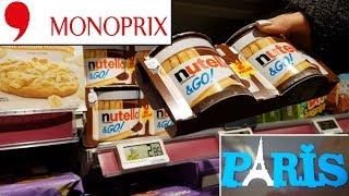Eurotrip Ep 04  MONOPRIX- Supermercado em Paris  PREÇOS + COMPRINHAS -VLOG