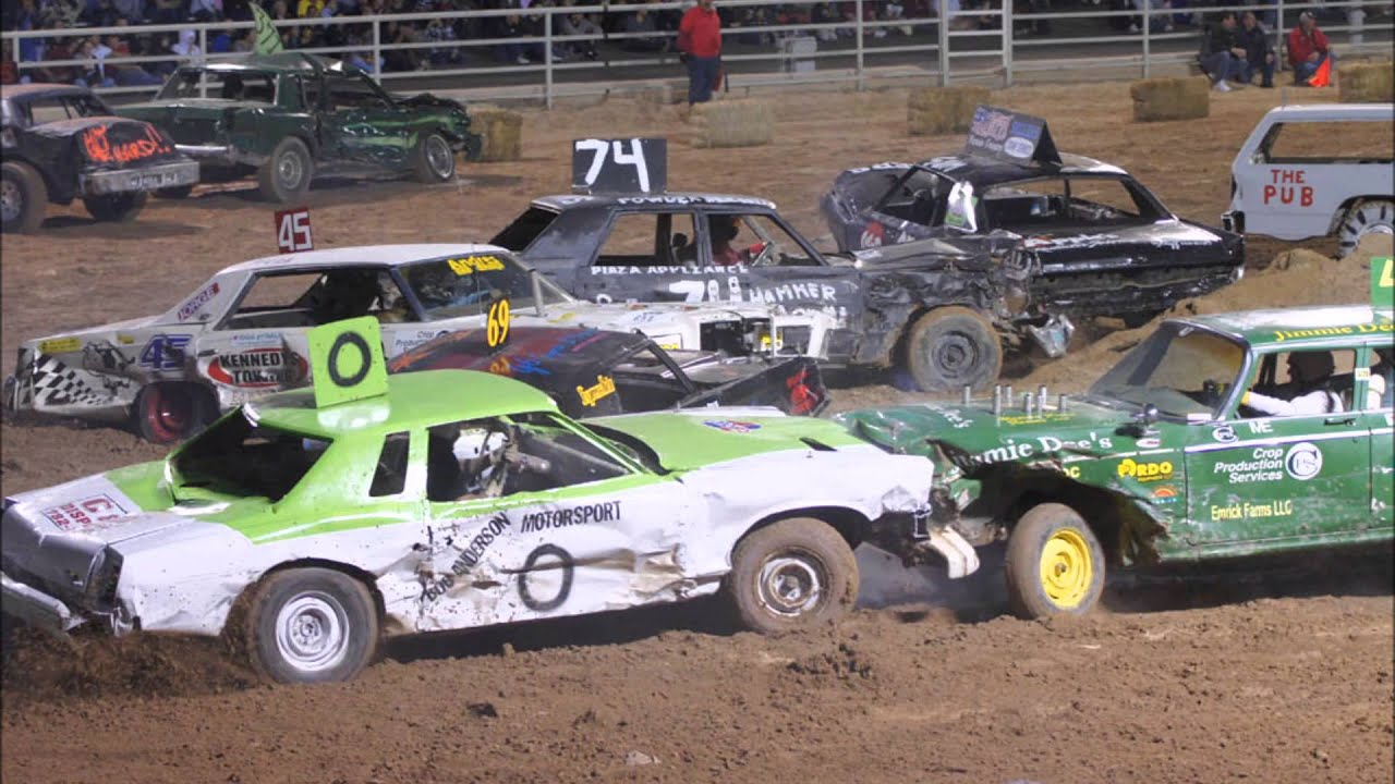 Demolition derby pits drivers, cars in combat |Demolition Derby Fair Grounds