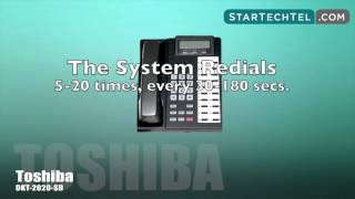 How To Activate Automatic Busy Redial On The Toshiba DKT-2020-SD Phone