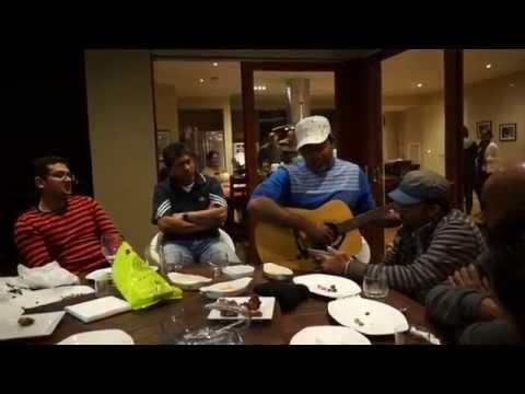 "Sri lankan Famous Actor Bimal Jayakodi Fun time with his friends he sang Pandith Amaradeva's ""Araadana"""