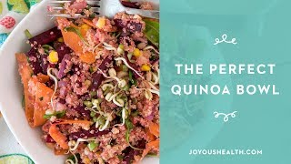 How to make a delicious QUINOA SALAD bowl