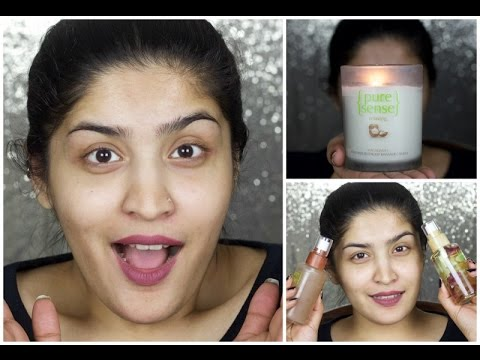 Trying Unique PureSense Skin Care Products | Spray On Oil, Massaging Candle and More | Giveaway!