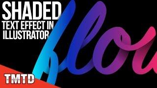 Illustrator Tutorials: Shaded Text Effect in Illustrator