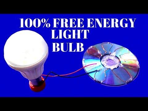100% Free Energy Light Bulbs From Solar Cell CD Flat - Free Energy Solar Cell Light Bulbs