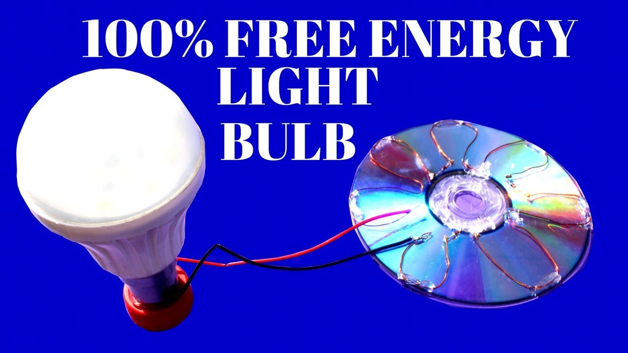 100% Free Energy Light Bulbs From Solar Cell CD Flat - Free Energy Solar  Cell Light Bulbs