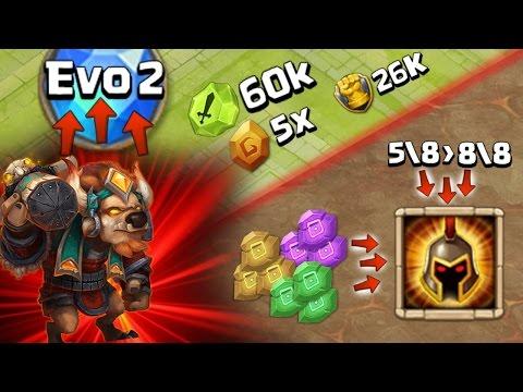 Castle Clash - PowerPush Minotaur Chieftain - Minotaurus Für Meister Dungeon 6