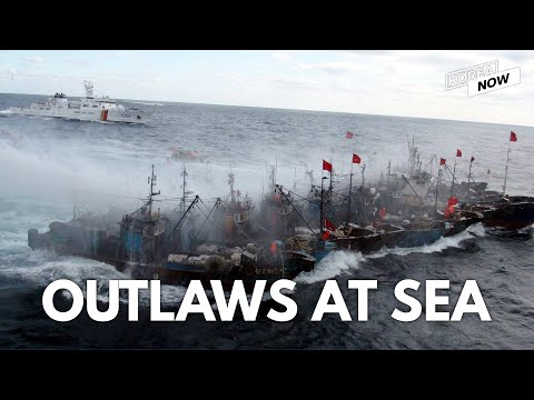 Dramatic capture operation of illegal Chinese fishing vessels in the Korea Sea