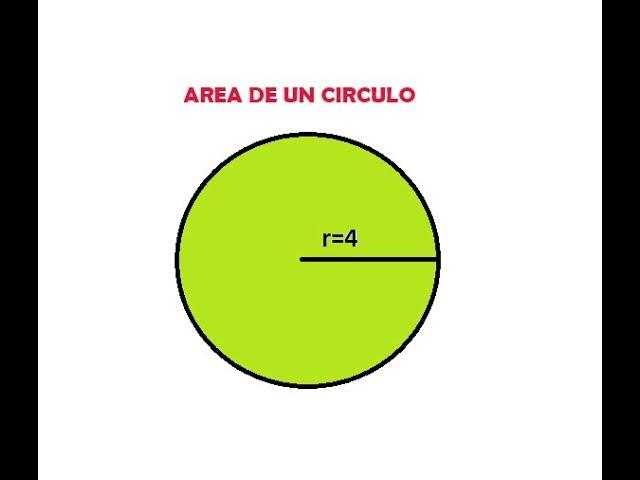 Area De Un Circulo Conociendo El Radio Youtube