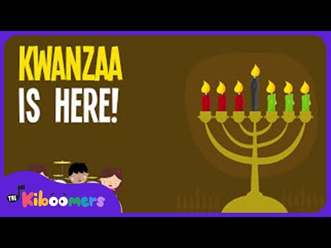 Kwanzaa Songs for Kids | Kwanzaa is Here | Lyric Video | The Kiboomers