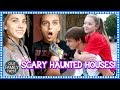 TOO NERVOUS TO GO THROUGH THE HAUNTED HOUSE!!