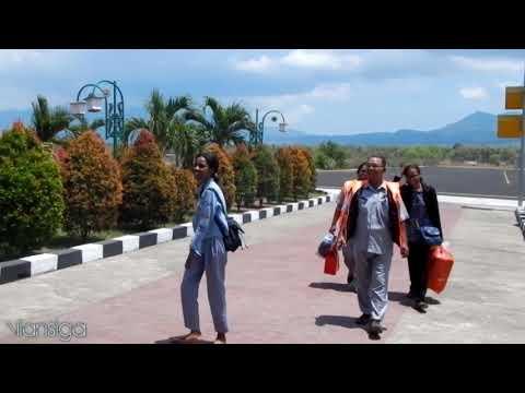 """SMAS Bhaktyarsa Jemput Dian Sorowea (Pelantun """"Karna Su Sayang"""") Di Bandara Frans Seda Maumere"""