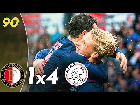 Feyenoord vs Ajax 1x4 ● Samenvatting / Goals & Highlights ► Eredivisie 22/10/2017