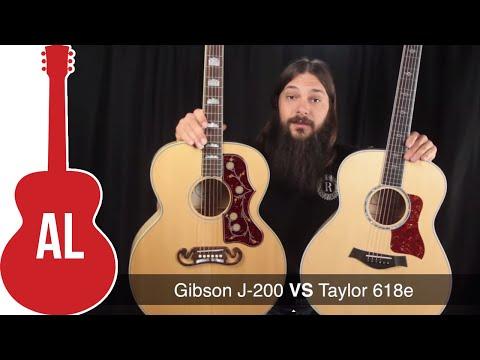 Gibson J-200 vs Taylor 618e