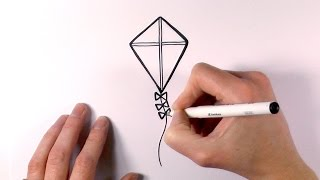 How to Draw a Cartoon Kite