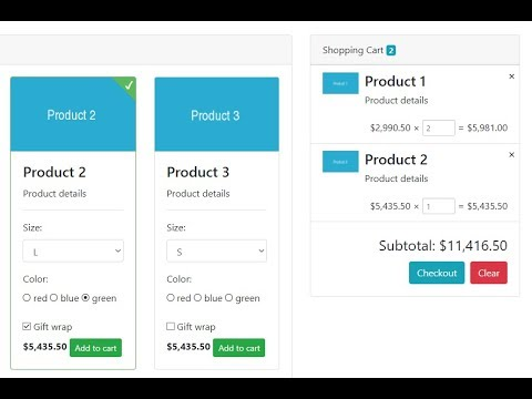 Shopping Cart with Paypal Payment